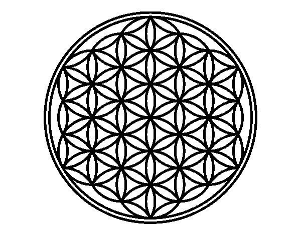 Mandala lifebloom coloring page