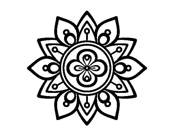 Mandala lotus flower coloring page