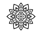 Mandala lotus flower coloring page
