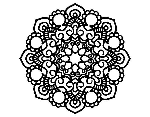 Mandala meeting coloring page