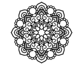 Mandala meeting coloring page