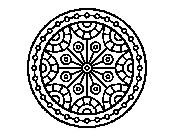 Mandala Mental Balance Coloring Page Coloringcrew Com