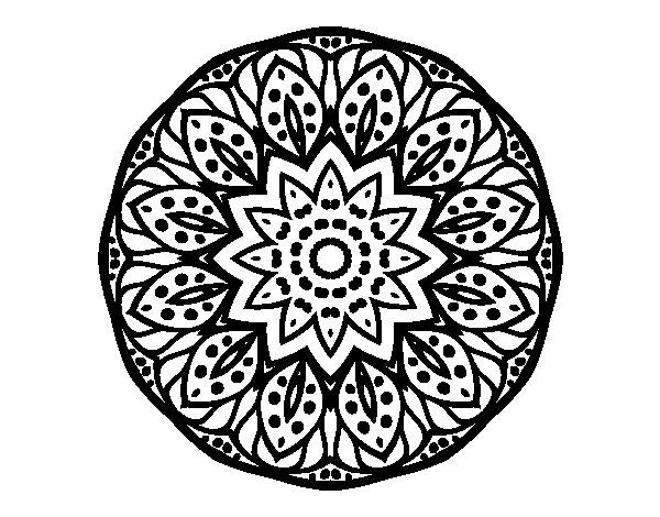 Mandala of nature coloring page