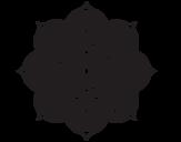 Mandala oriental flower coloring page