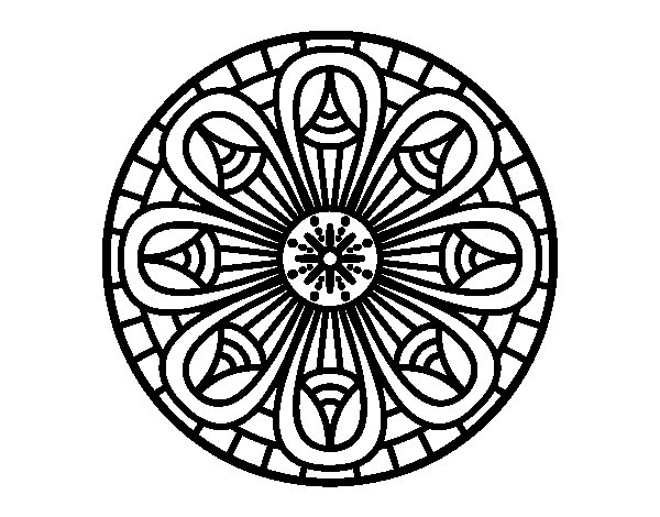 Mandala pencils coloring page