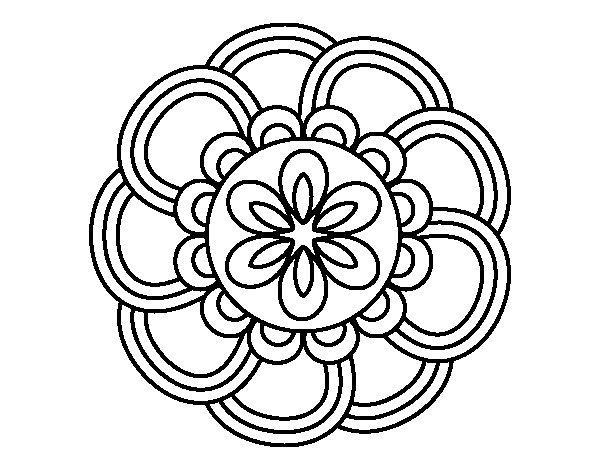 Mandala petals coloring page