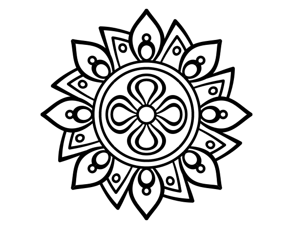 easy flower mandala coloring pages - photo#19