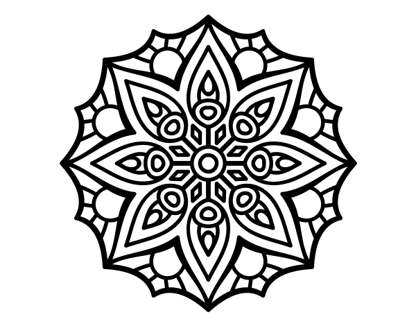 related simple mandalas coloring pages - photo#15