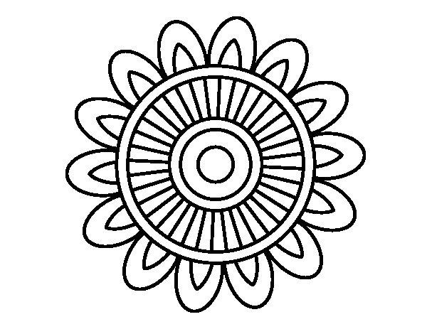 Mandala solar coloring page