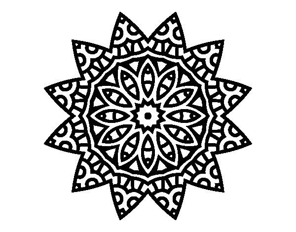 Mandala star coloring page