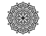 Mandala to meditate coloring page