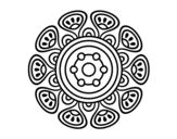 Mandala vegetal growth coloring page