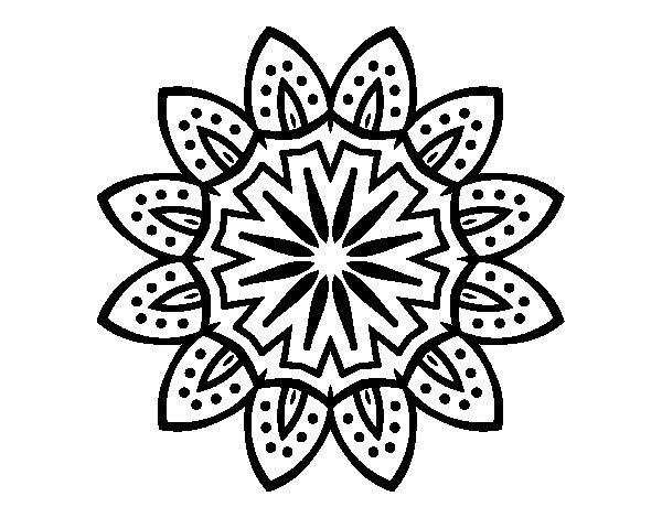 Mandala with petals coloring page