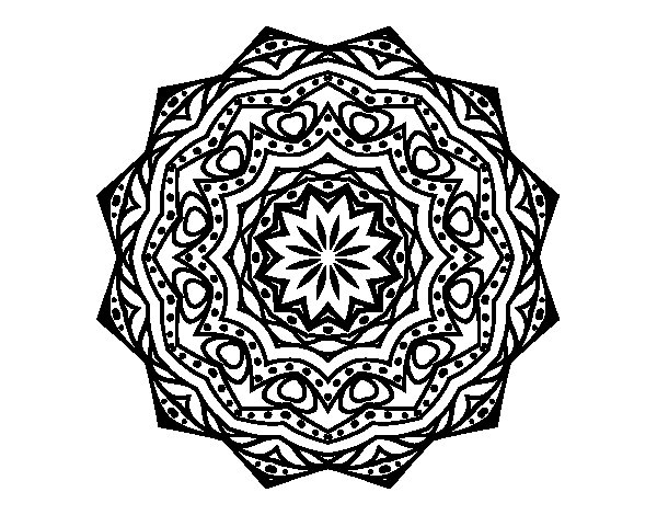Mandala with stratum coloring page