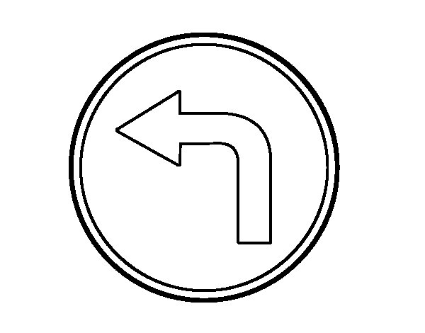 Mandatory direction to the left coloring page