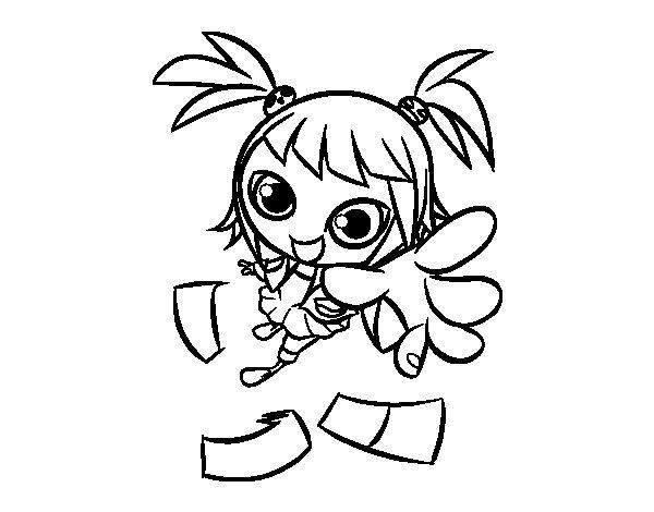 Manga girl coloring page