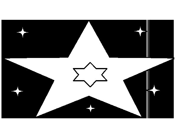 Many stars coloring page