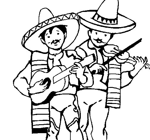 Musicians Coloring Pages Mariachi Musicians Coloring