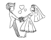 Married and in love coloring page