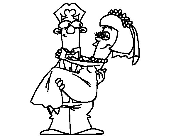 Married coloring page