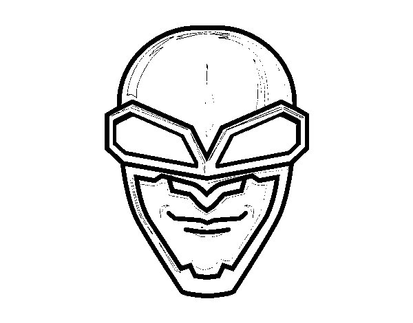 Mask aviator coloring page
