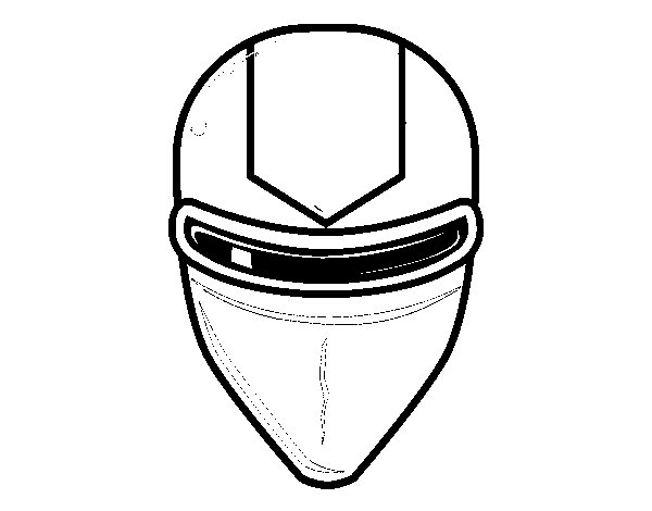 Mask with ray laser glasses coloring page