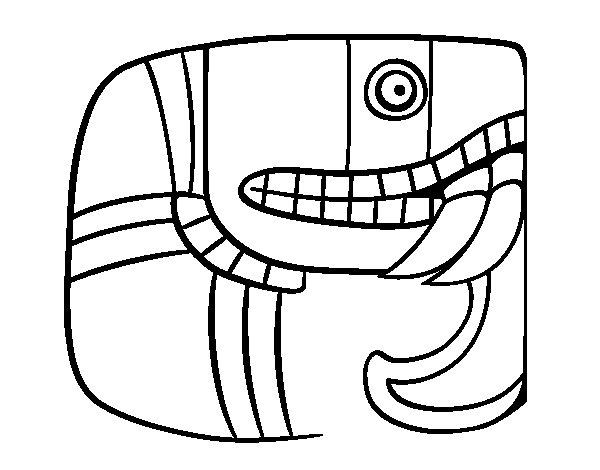 Maya script  coloring page