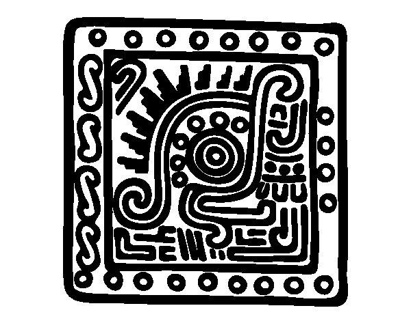 Maya symbol coloring page