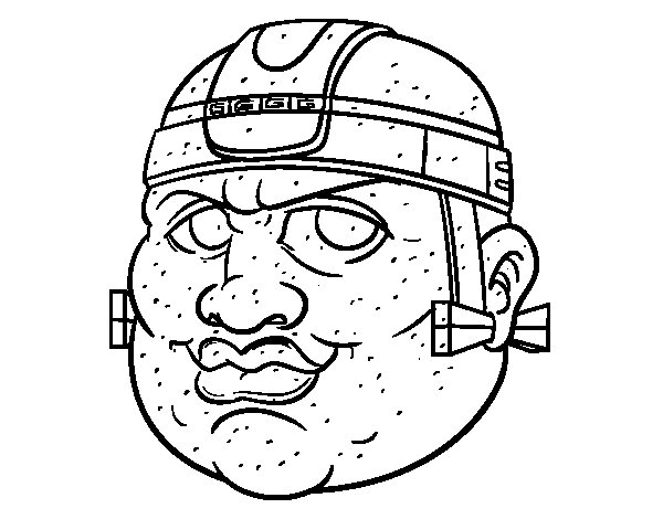 Maya warrior coloring page