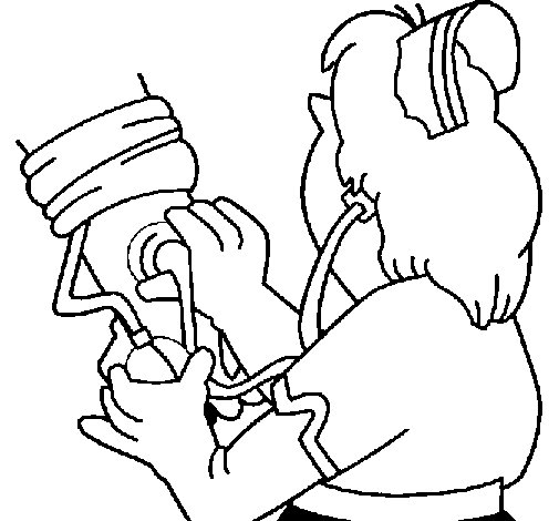 Measuring blood pressure coloring page - Coloringcrew.com