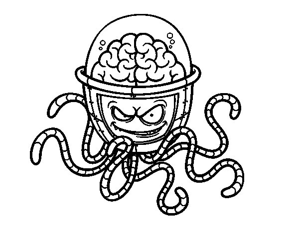 mechanical brain coloring page