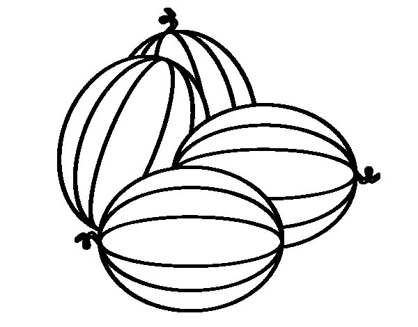 Melons coloring page