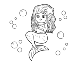 Dibujo de Mermaid combing her hair