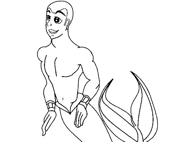 Merman Coloring Page Coloringcrew Com Merman Coloring Pages