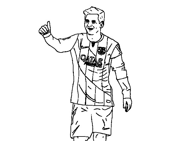 Messi Barça coloring page