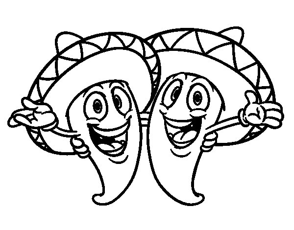 printable mexican food coloring pages - photo#24