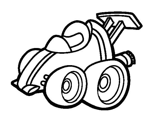 Micro Formula One car coloring page