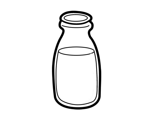coloring pages of bottles - milk bottle coloring page