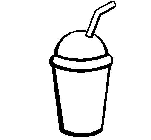 Milkshake II coloring page