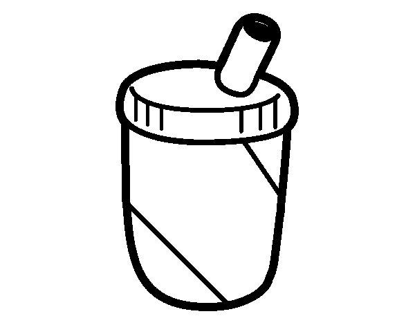 Milkshake pack coloring page