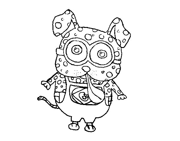 Minion dog coloring page