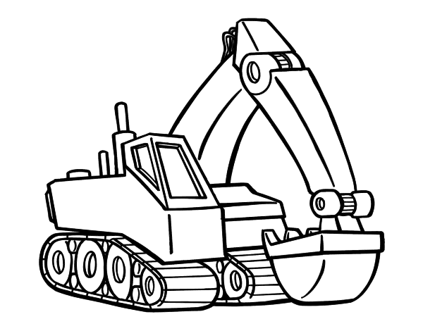 excavator coloring pages to print - photo#9