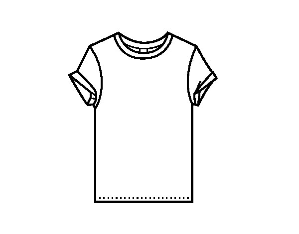 T Shirt Coloring Page To Really Encourage To Color Pages Cool Shirt Coloring Pages
