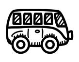Modern van coloring page
