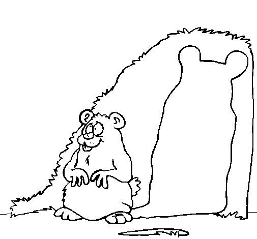 Mole and shadow coloring page