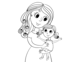 Happy mother and daughter coloring page - Coloringcrew.com