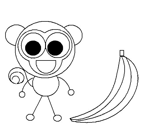 Monkey 2 coloring page