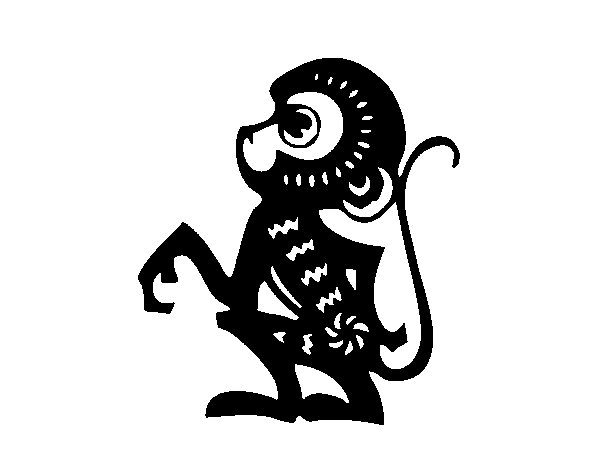Monkey Sign coloring page