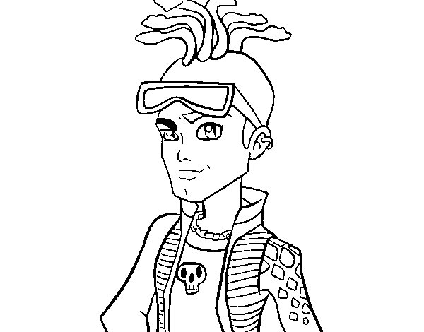 Monster High Deuce Gorgon Coloring Page