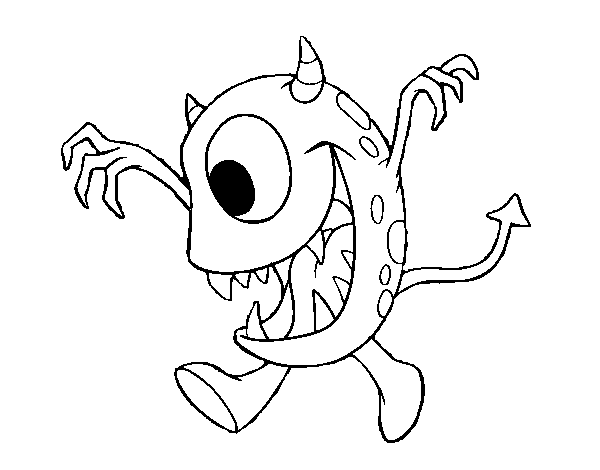 monster with one eye coloring page coloringcrewcom - Monster Coloring Book